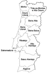 mapa de portugal em desenho Mapa de Portugal Provincias   Desenhos para Colorir Educativos  mapa de portugal em desenho