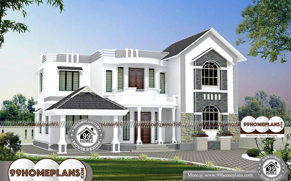 House Front Elevation Indian Style 2 Story 2410 Sqft Home House Front Elevation Indian Style Do Contemporary House Plans House Front House Designs Exterior