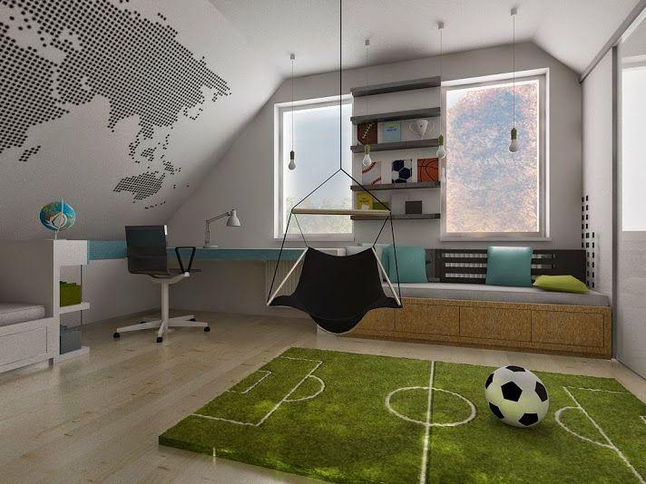 pokój chłopca 1 - Kids | Pinterest - Jongens, Kinderkamer en Voetbal