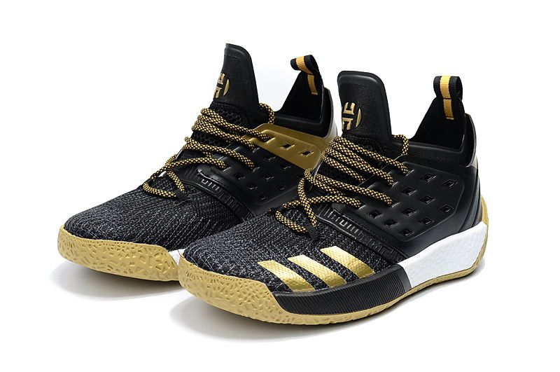 3da12f404cc75 New Harden Sneakers Adidas James Harden Vol 2 Black Gold   Fashion ...