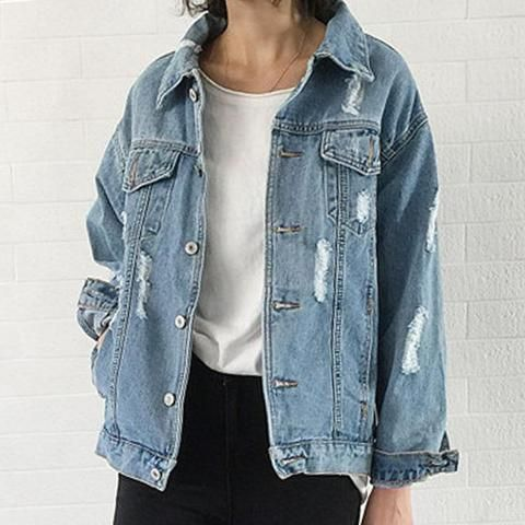 ec6ee55469f1e 2018 Women Basic Coat Denim Jacket Women Winter Denim Jacket For Women  Jeans Jacket Women Denim Coat loose fit casual style