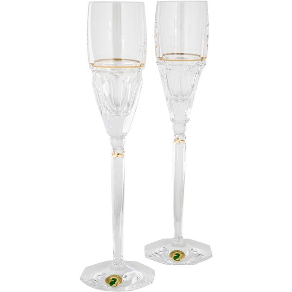 preowned waterford crystal elysian champagne flutes 190 cad liked on polyvore - Waterford Champagne Flutes