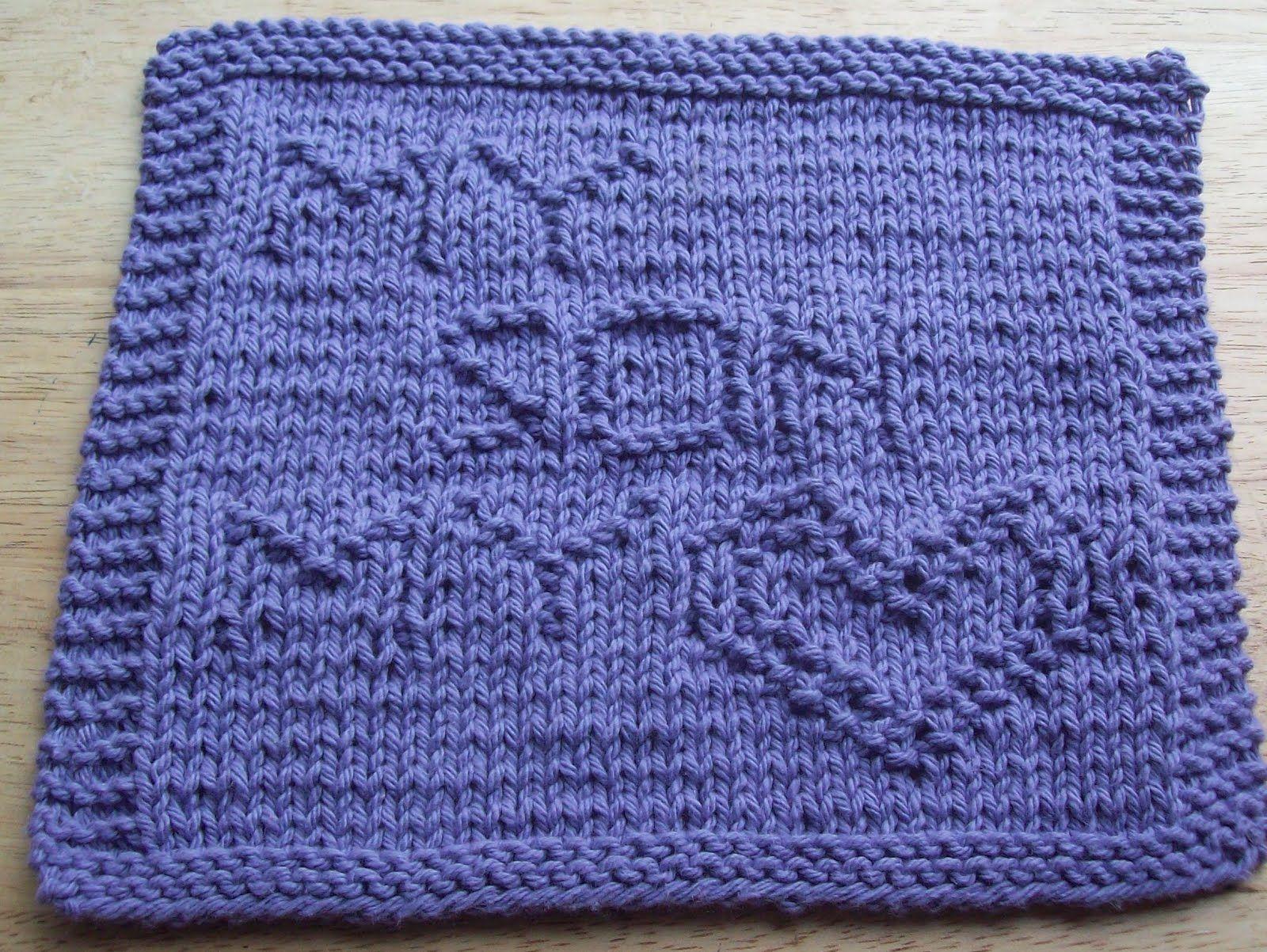DigKnitty Designs: My Son My Heart Knit Dishcloth Pattern | Knitting ...