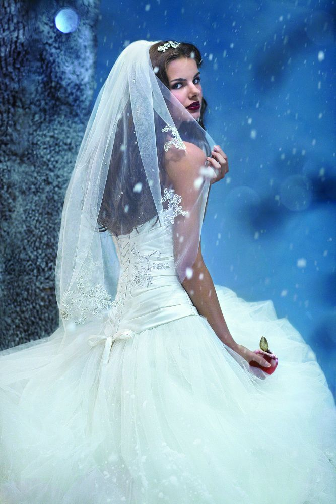 Snow White Veil Style 102 Beading Lace And Crystal