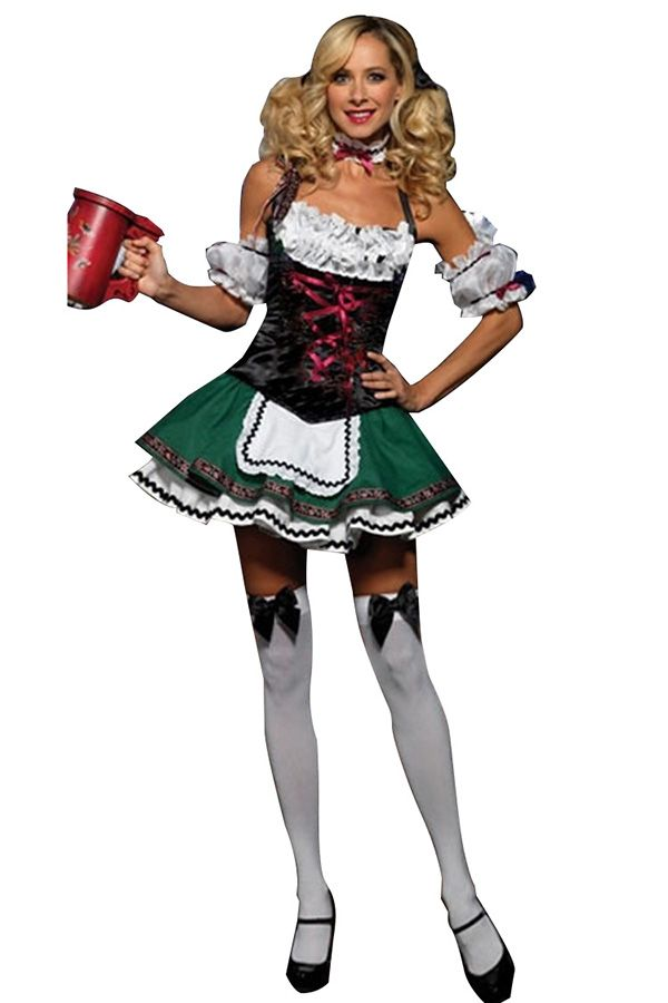 Green Sexy Ladies German Beer Girl Maid Costume  sc 1 st  Pinterest & Green Sexy Ladies German Beer Girl Maid Costume | CLOTHING ...