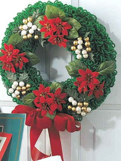 Quick Christmas Wreath Pattern Diy Hh Recipes Craft Ideas