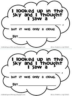 Chalk Talk: Little Cloud by Eric Carle Activities and a