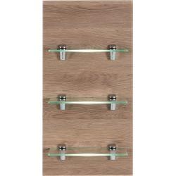 Photo of Panel Santini bathroom shelf light oak glossy with 3 glass shelves EmotionEmotion