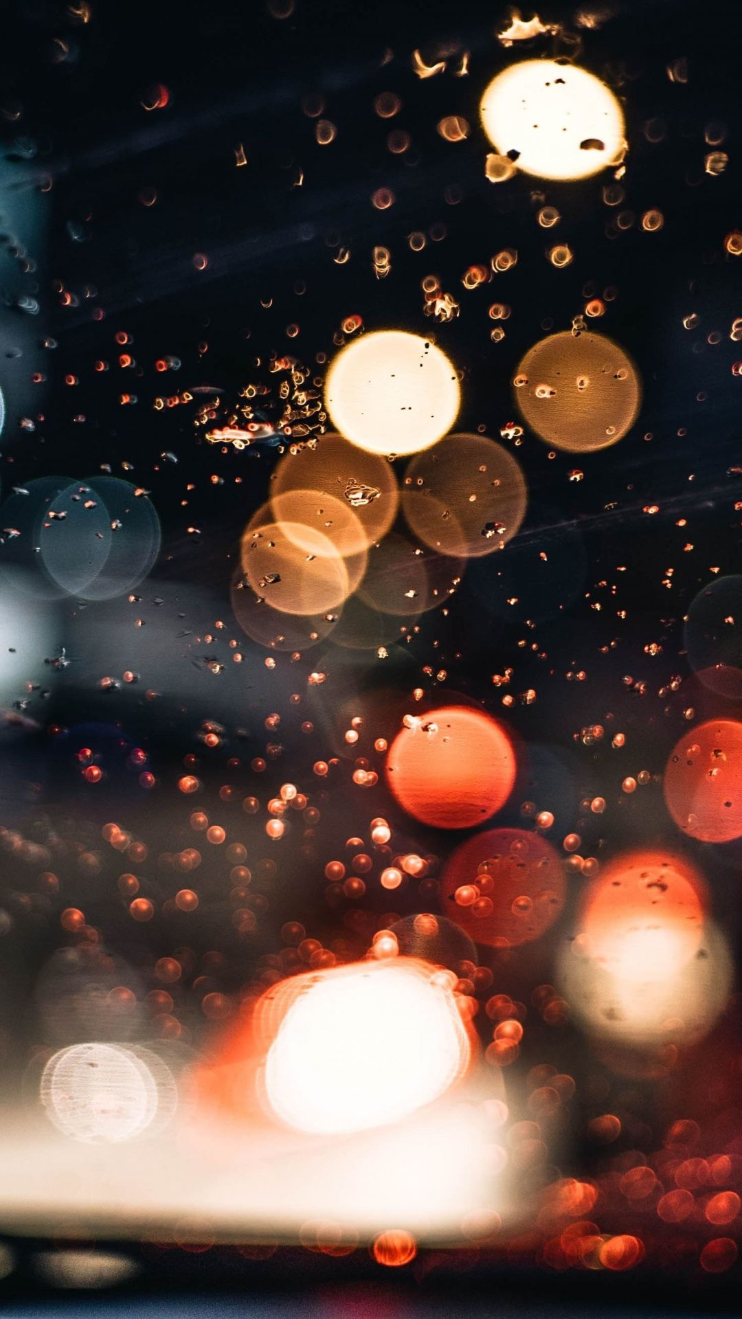 Lights, bokeh, dark, 1080x1920 wallpaper Iphone