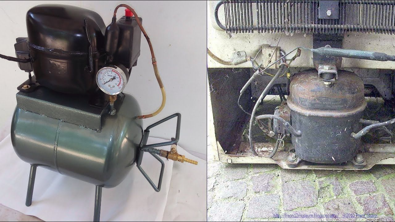 How to make Homemade Silent Air Compressor from old
