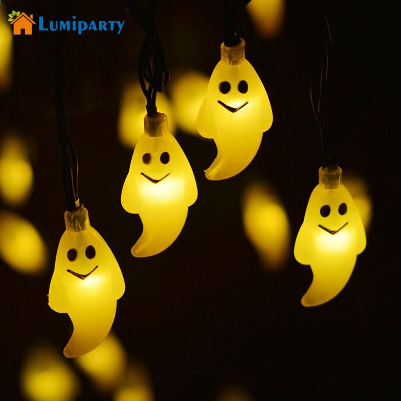 Lumiparty Halloween Light Outdoor Solar Lichtslingers Ghost 30led