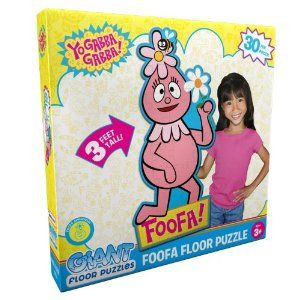 Yo Gabba Gabba Foofa Giant Floor Puzzle Party Accessory by PROM PARTNERS. $11.40. YO GABBA GABBA FOOFA FIGURE GIANT FLOOR PUZZLE . 30 PIECES . OVER 3 FEET TALL. Includes (1) Yo Gabba Gabba Foofa Giant Floor Puzzle.