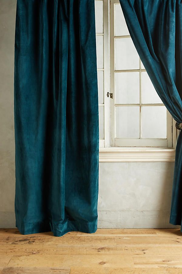Matte Velvet Curtain Velvet Curtains Turquoise Curtains Teal Curtains