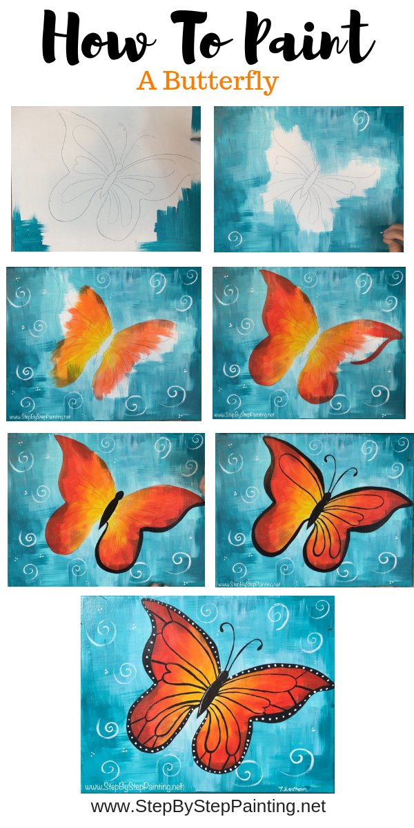 How To Paint A Butterfly 2020 Kelebekler Tablolar Painting