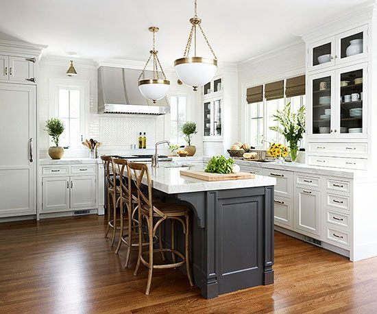 White Kitchen With Island Home Design