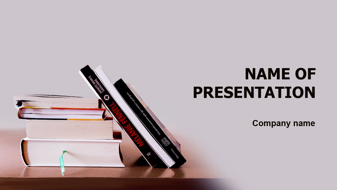 Good Books PowerPoint template and theme. This beautiful and ...
