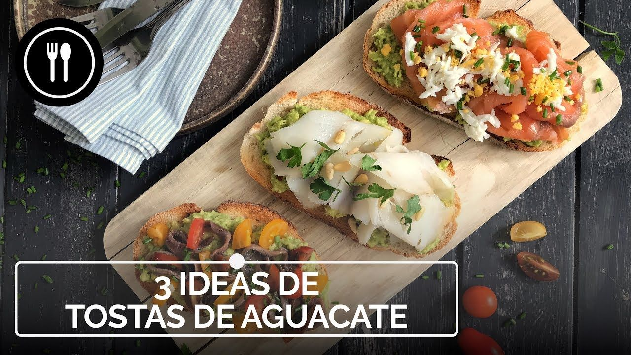 Tostas de aguacate: tres recetas fáciles y rápidas de aperitivos | Instafood - YouTube