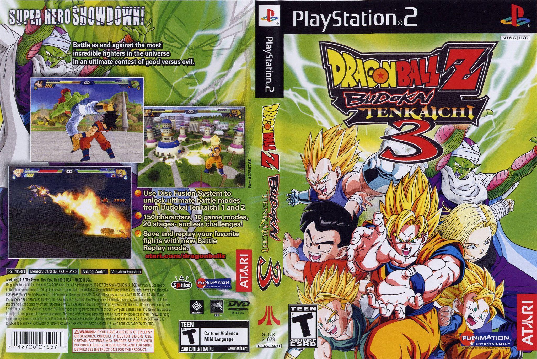 dragon ball z budokai tenkaichi 3 per ps2