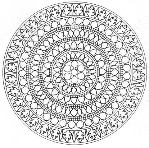 Ausmalbild Mandala Ausmalbilder Kostenlos Zum Ausdrucken Mandala Vorlagen Geometrische Malvorlagen Mandala Zum Ausdrucken