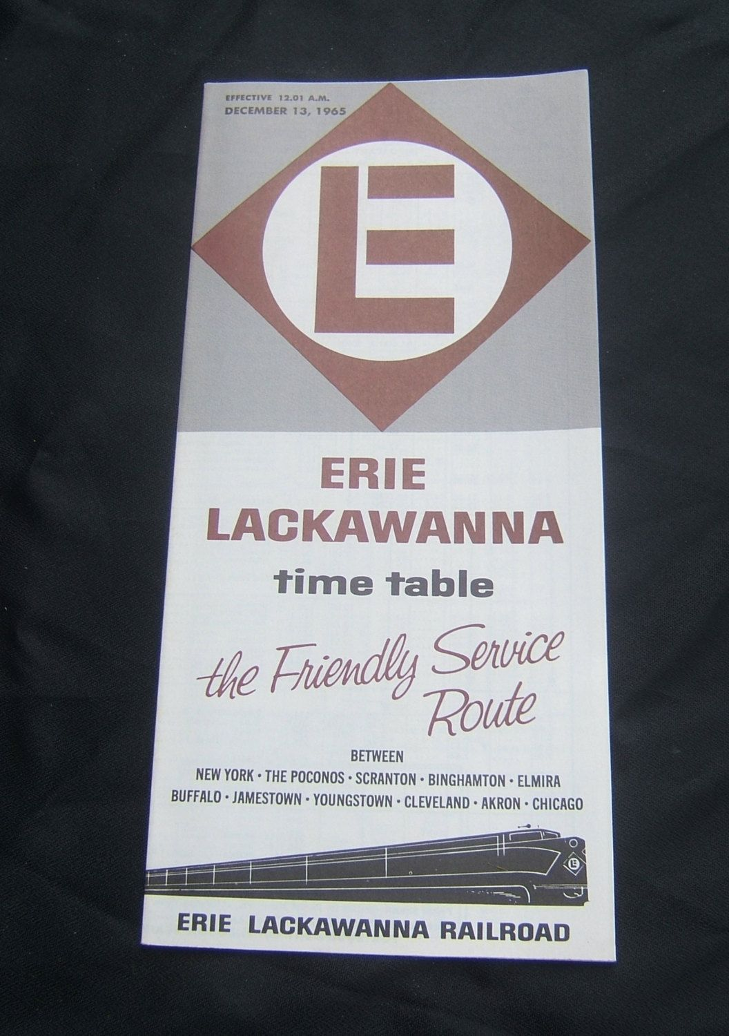 Erie Lackawanna 1965 Passenger Train Time Table in 2019 | NS