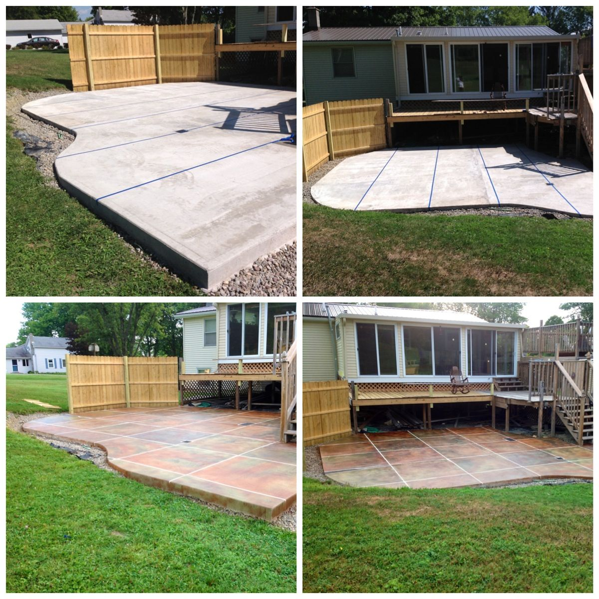 Before And After Concrete Patio Patio Concrete