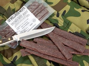 Beef Jerky Sticks - Plain - JUST BEEF and Salt! No nitrates, artificial anything. LEAP Friendly snack.
