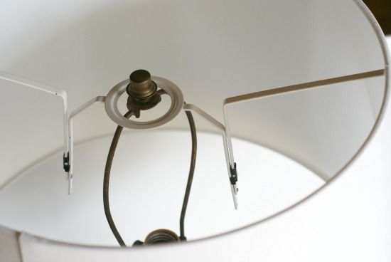 Converting A Lampshade Spider For A Lamp Harp.