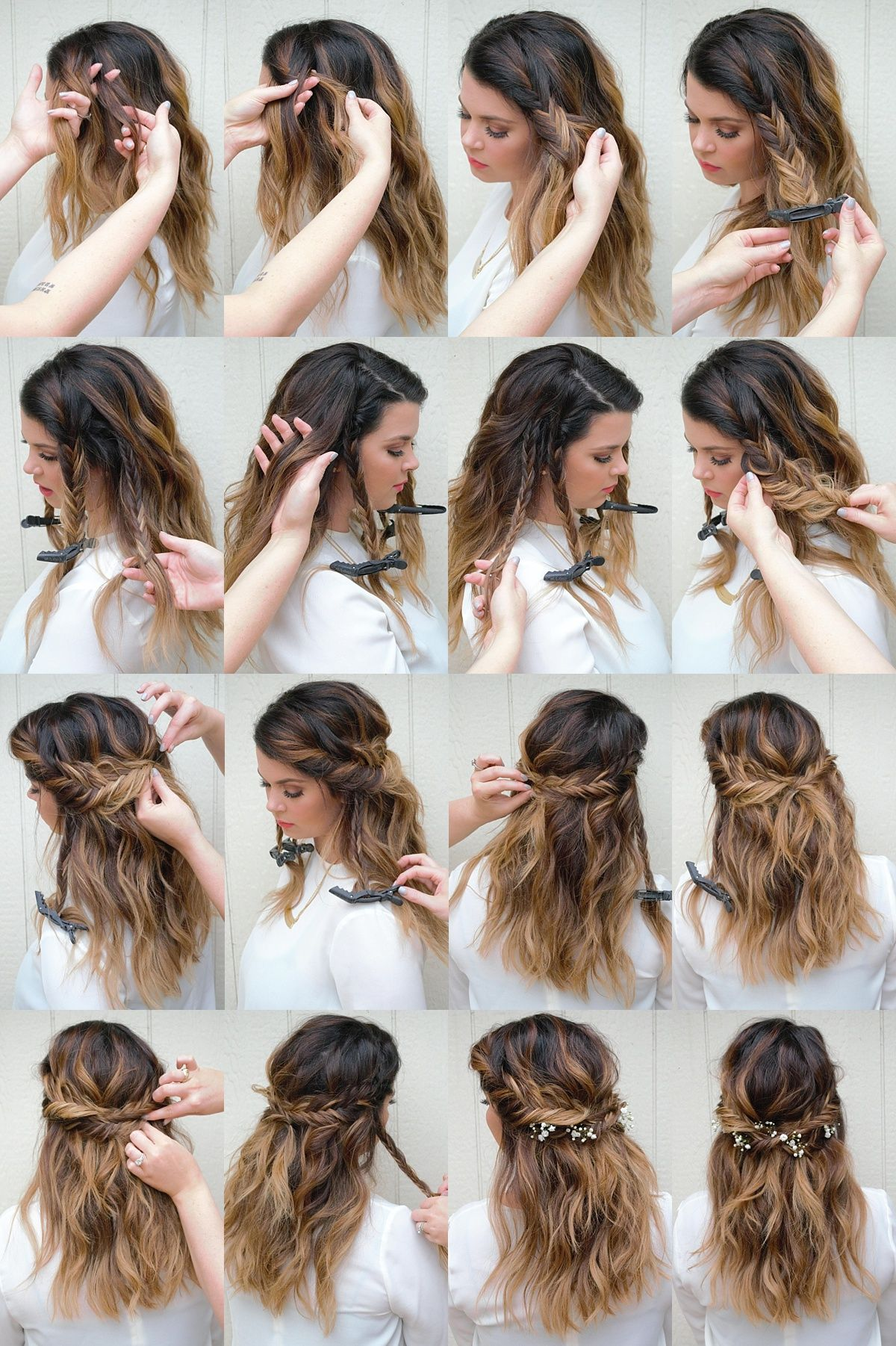 Fishtail tutorial  fishtail half up hair  how to fishtail braid  Sunkissed and Made Up