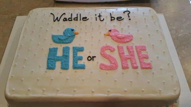 Gender Reveal Sheet Cake With Images Gender Reveal Cake