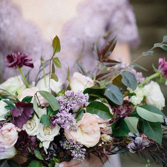 Pale Purple Ombre Wedding Ideas Affordable Wedding Flowers