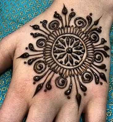 Simple Mehndi Tikka Styles Easy Mehndi Design