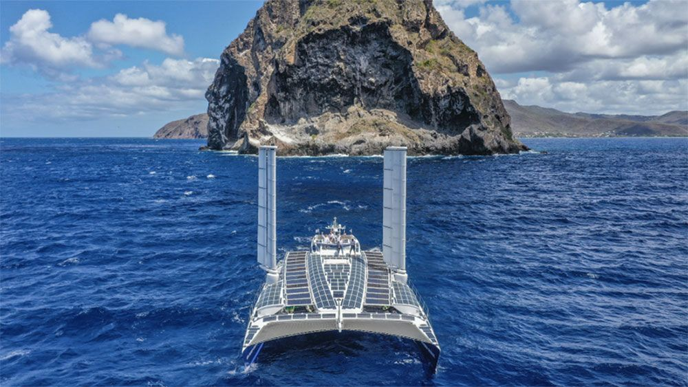 This Catamaran Just Crossed the Atlantic With Zero Carbon