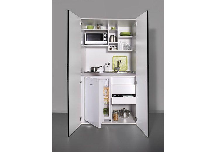 Schrankküche ikea  Schrankküche mit Glaskeramik-Kochfeld, Kühlschrank und Mikrowelle ...