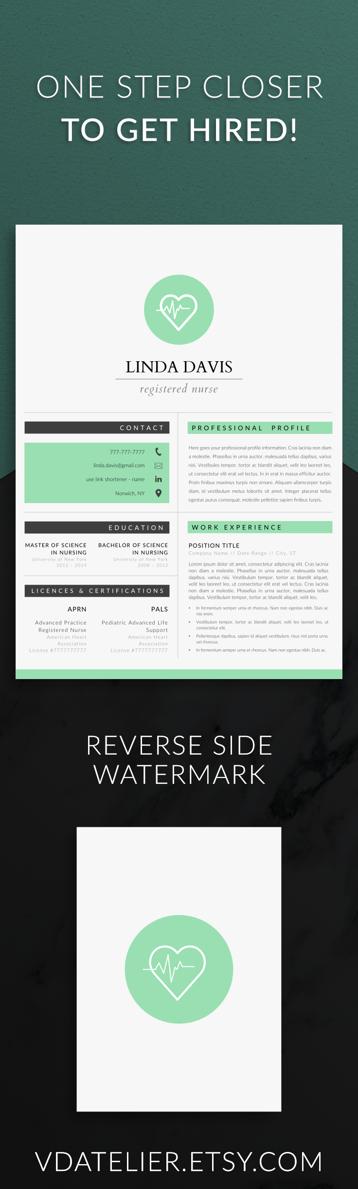 Nursing Resume Template  Pages  Nurse Resume Template  Registered