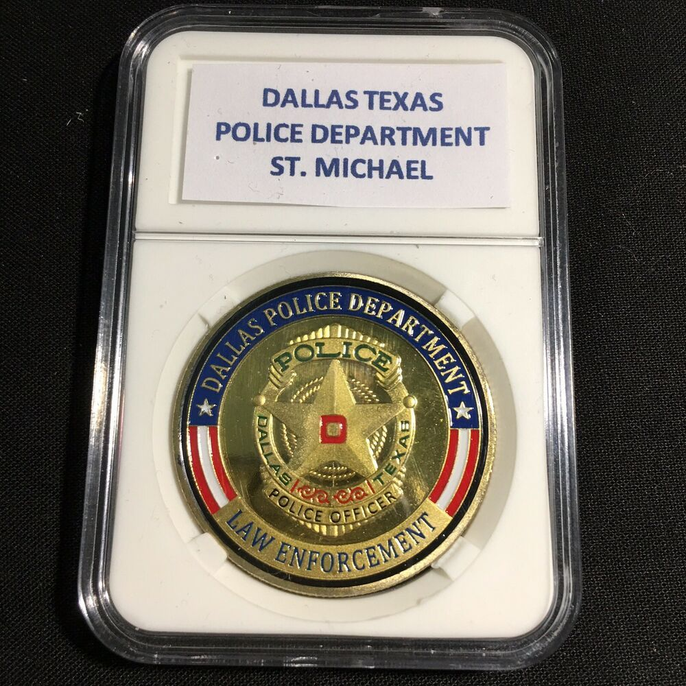 Details about dallas texas police department gold finish