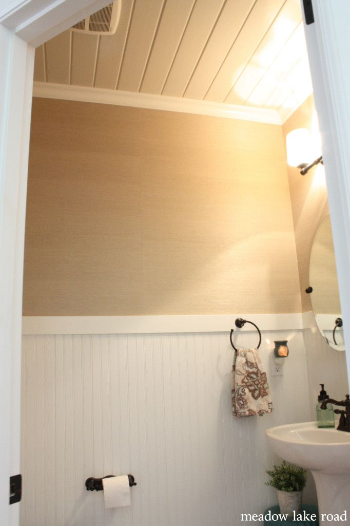 10 Rooms Featuring Beadboard Paneling: Powder Room Redo Completed