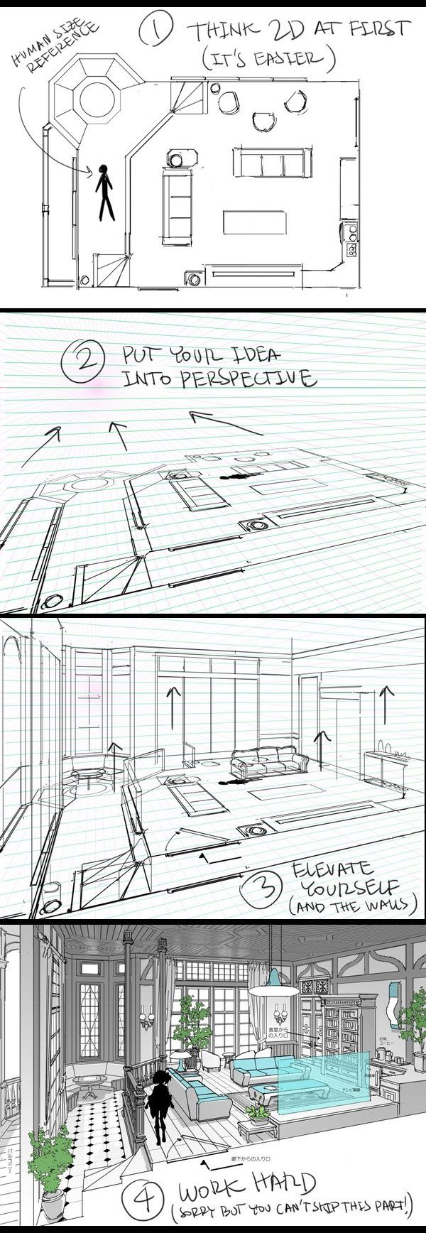 Thomasromain ロマン トマ On In 2019 Drawings Interior