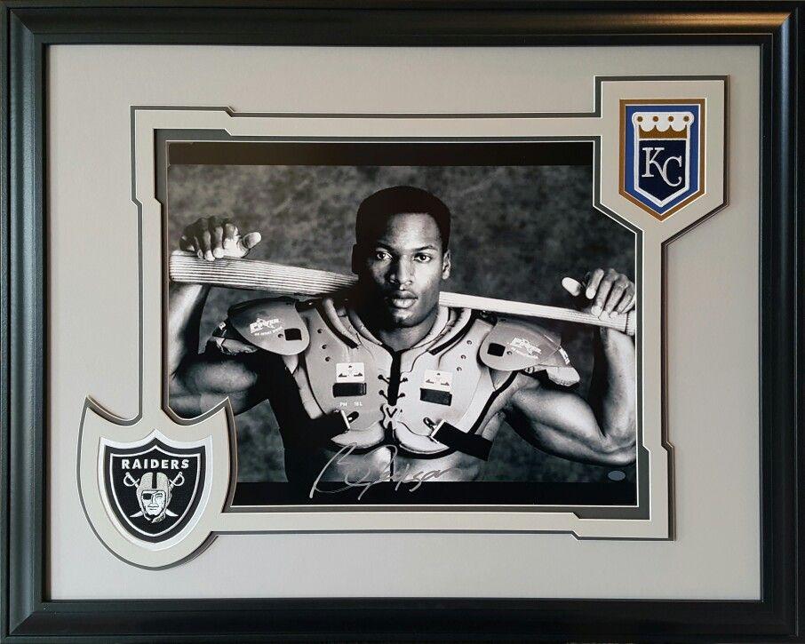 Bo Jackson. Kansas City Royals, Oakland Raiders. Framed 16x20 photo ...
