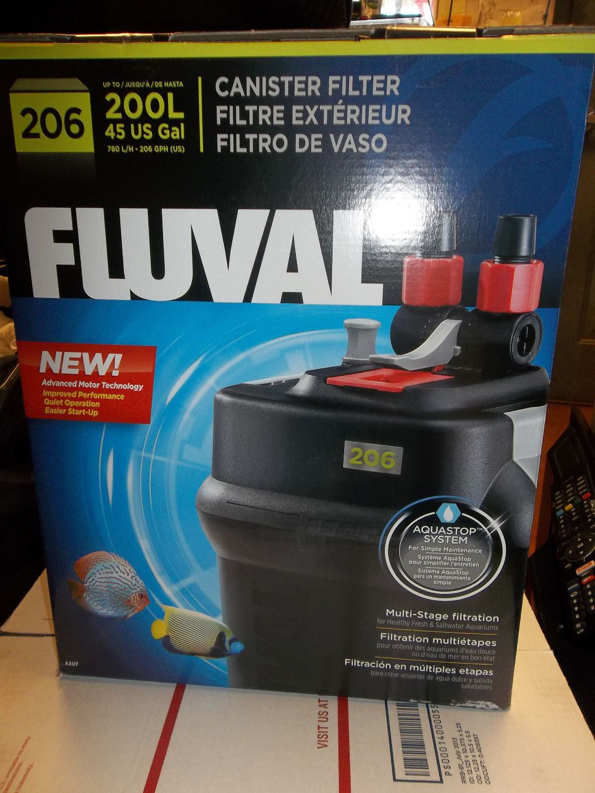 Animals Fish And Aquariums New Fluval 206 200L 45 Us Gal Canister