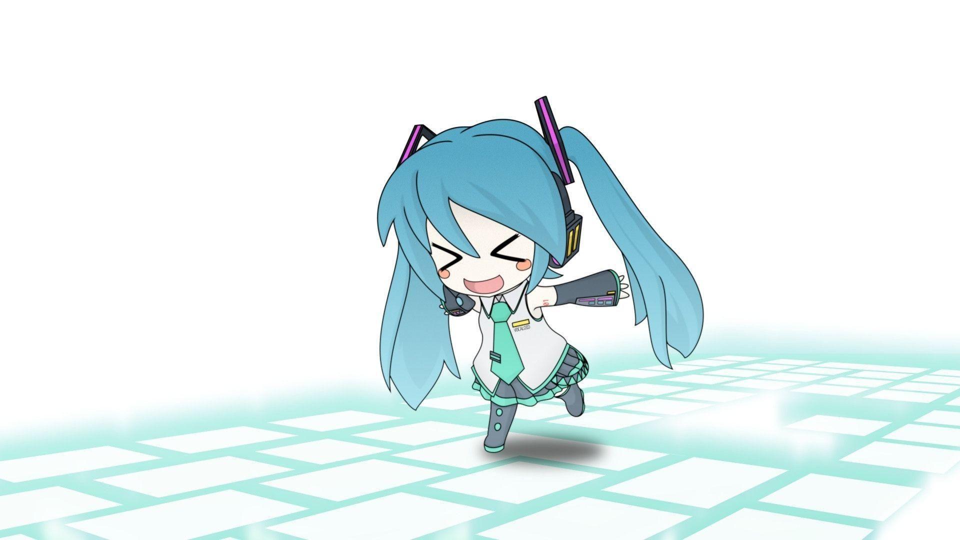 Chibi Hatsune Miku Widescreen Hd Wallpaper Beraplan Chibi Wallpaper Anime Chibi Cute Anime Chibi