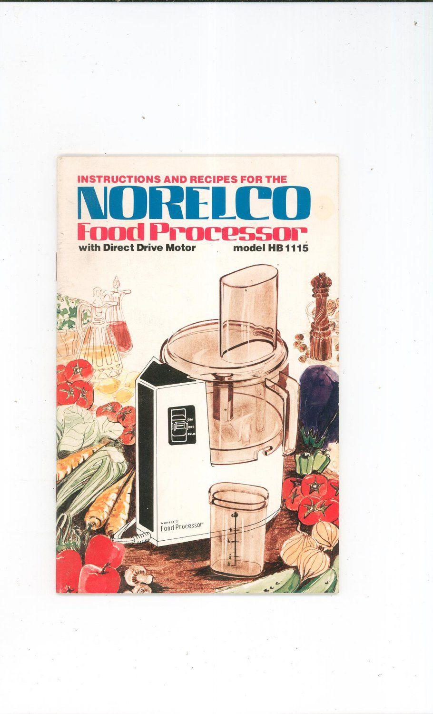 Vintage norelco food processor model hb 1115 instructions recipes vintage norelco food processor model hb 1115 instructions recipes not pdf forumfinder Gallery