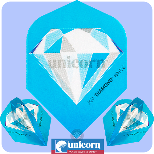 Dart Flights - Unicorn Authentic - Authentic 100 - Plus Std - Ian White - Diamond - http://www.dartscorner.co.uk/product_info.php?products_id=19176