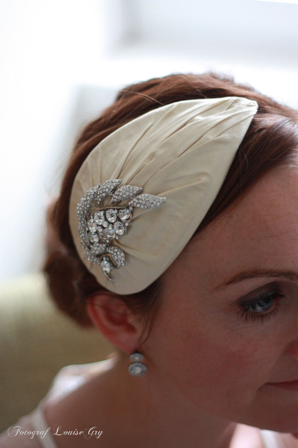 Vintage Style Wedding Hat Lady Guinevere Silk 139 00 Via Etsy