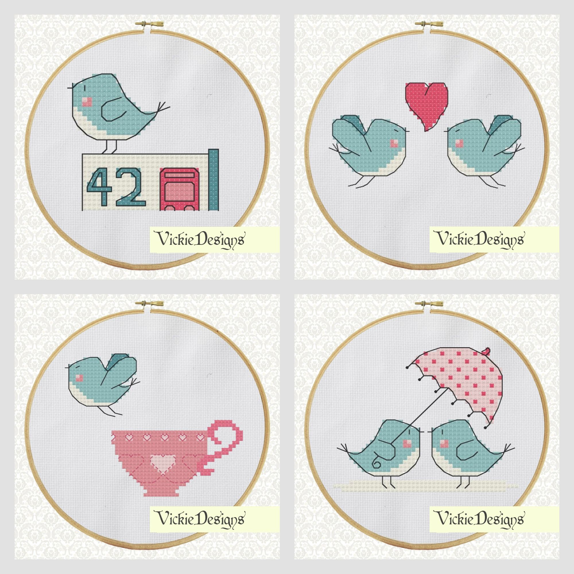 Cross Stitch Pattern available in my store!  https://www.etsy.com/uk/shop/VickieDesigns?ref=si_shop