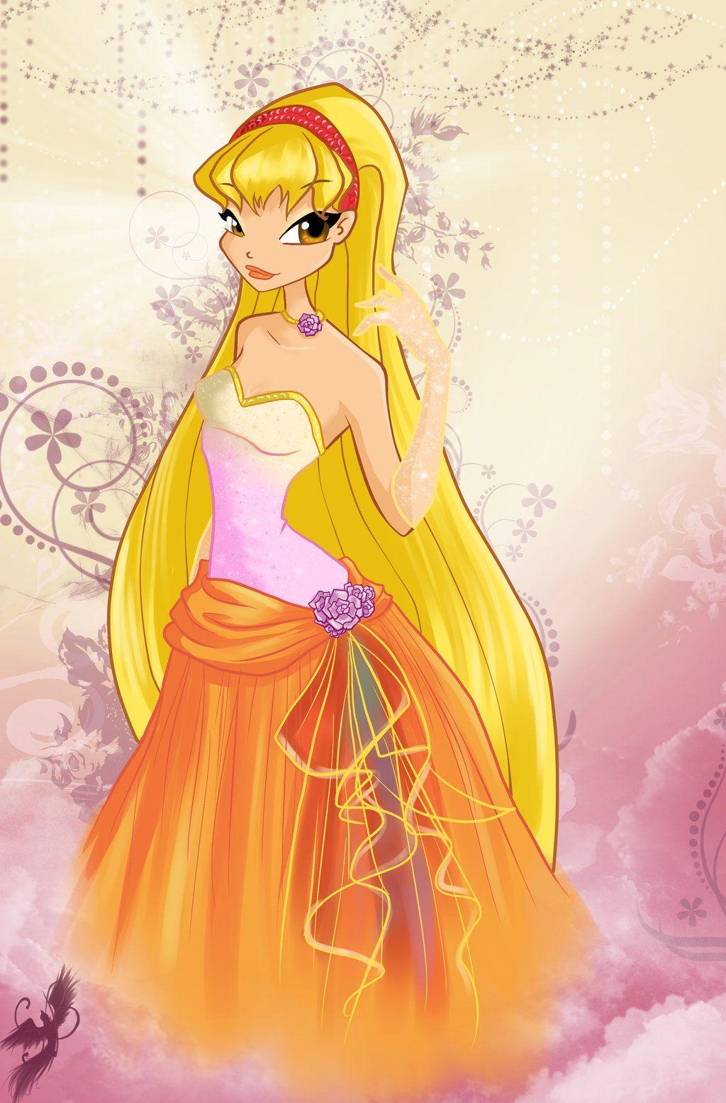 Dress up winx club - Winx Club Dress Up Stella Ball Dress By Fantazyme