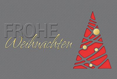 weihnachtskarte grau rot frohe weihnachten inkl. Black Bedroom Furniture Sets. Home Design Ideas