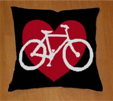 I Heart Bikes, new at Needlepaint