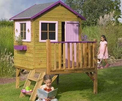 kinderspielhaus michael mit rutsche kinderhaus gartenhaus gartenh user spielhaus stelzenhaus f r. Black Bedroom Furniture Sets. Home Design Ideas