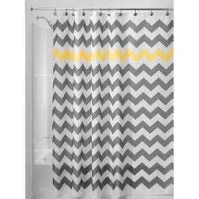 Shower Curtain Polyester Chevron Standard 72 Quot X72 Quot Gray