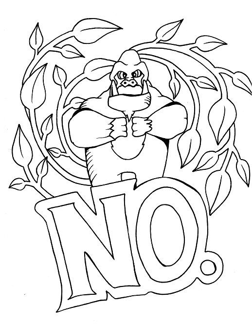 Gorilla - Adult Coloring page - swear. 14 FREE printable coloring ...